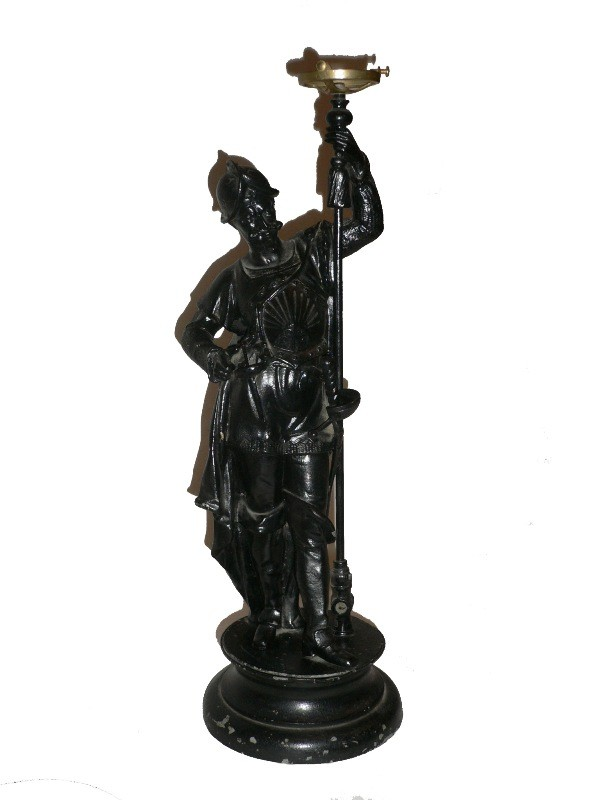 Incredible Antique Figural Gas Light, 1870's-0