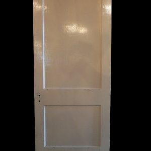 Antique Two-Panel Solid Wood Door-0