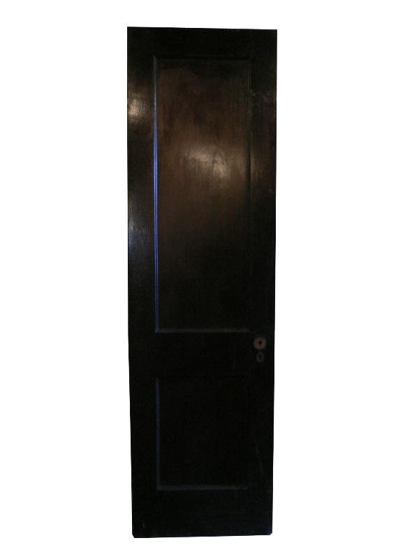 Antique Two-Panel Solid Wood Door, Stained Finish-0