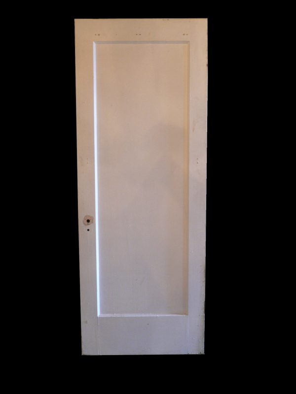 Antique One-Panel Solid Wood Door with Narrow Trim-0