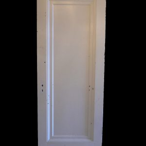 "Antique One-Panel Solid Wood ""Miracle Door"" with Wide Trim-0"