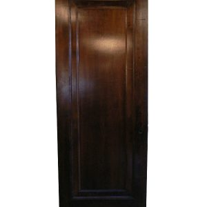 "Antique One-Panel Solid Wood ""Miracle Door"" with Wide Trim, Stained Finish-0"