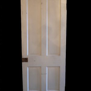 Antique Four-Panel Solid Wood Door-0