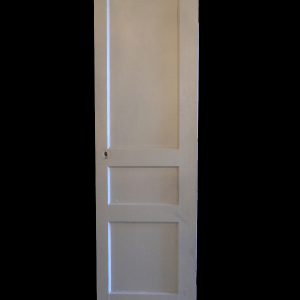 Antique Three-Panel Solid Wood Door-0