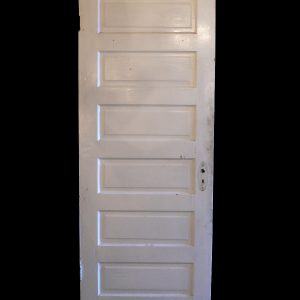 Antique Six-Panel Solid Wood Door-0
