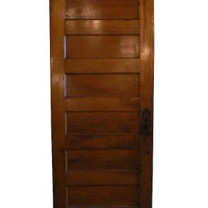 Antique Six-Panel Solid Wood Door, Stained Finish-0