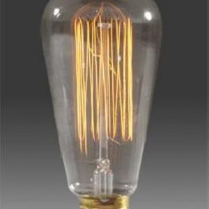 "Reproduction Edison ""Squirrel Cage"" Light Bulb, 60W-0"