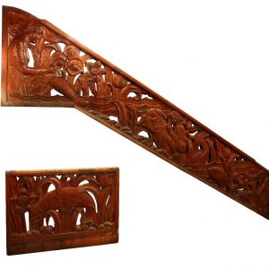 Antique Hand Carved Three-Piece Figural Staircase with Mermaids, Sea Creatures, and Women-0
