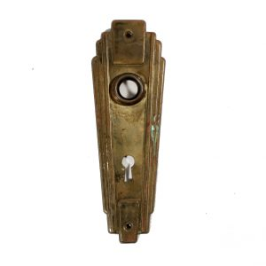 Attractive Salvaged Art Deco Door Plates-0