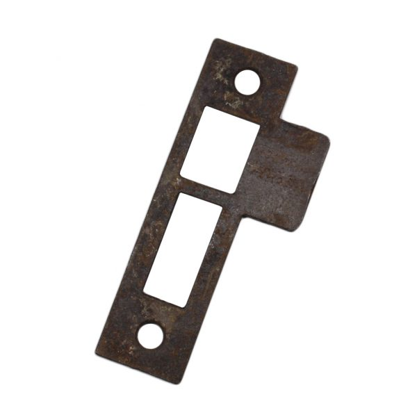 "Antique Salvaged Strike Plates for Mortise Locks, 1/8"" Spacing-0"