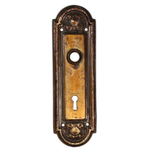 "Beautiful Antique Arched Door Plates, ""Crofton"" by Reading Hardware, c. 1910 -0"
