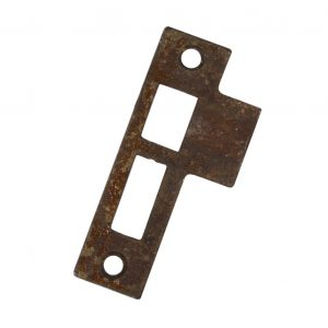 "Antique Strike Plates for Mortise Locks, 3/32"" Spacing-0"