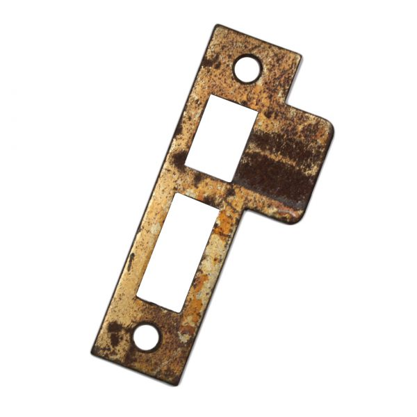 """Antique Salvaged Strike Plates for Mortise Locks, 9/32"""" Spacing-0"""