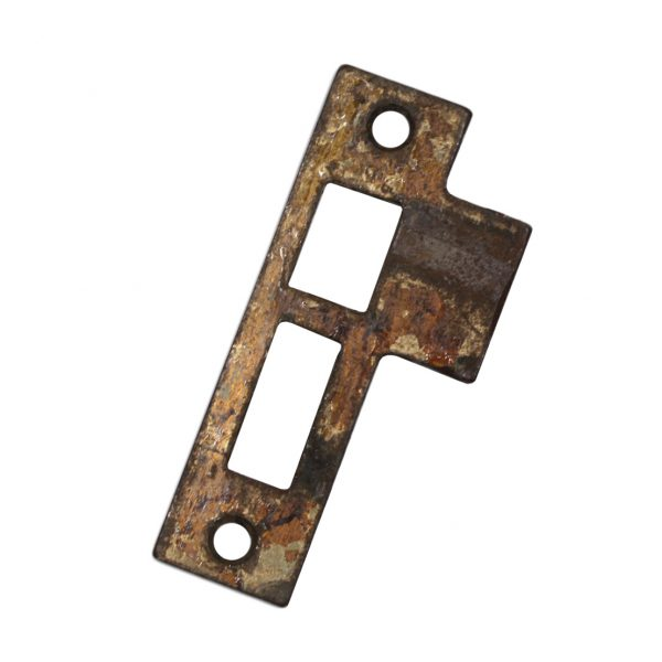 "Salvaged Antique Strike Plates for Mortise Locks, 7/32"" Spacing-0"
