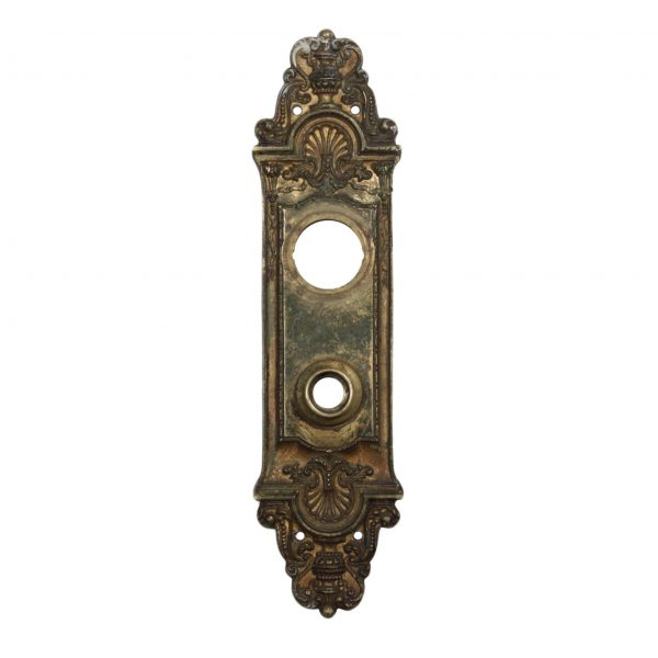 """Marvelous Antique Cast Bronze Entry Backplates, """"Fenmore"""" by Reading c. 1910-0"""