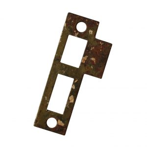 """Antique Salvaged Strike Plates for Mortise Locks, 5/16"""" Spacing-0"""