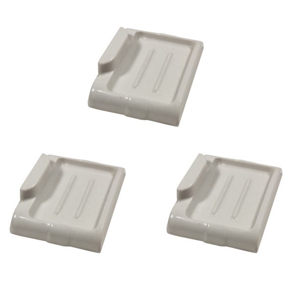 Matching Antique Wall-Mount Porcelain Bar Soap Holders-0