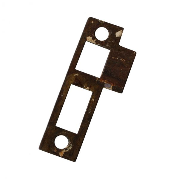 """Antique Salvaged Strike Plates for Mortise Locks, 3/8"""" Spacing-0"""