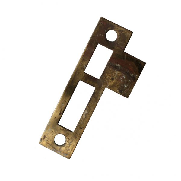 """Antique Salvaged Strike Plates for Mortise Locks, 7/32"""" Spacing-0"""