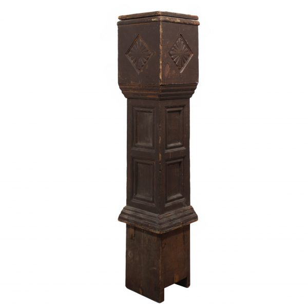 Reclaimed Antique Newel Post, c. 1920s-0