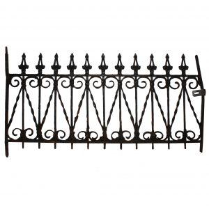 Superb Antique Long Wrought Iron Window Guard, Late 1800's-0