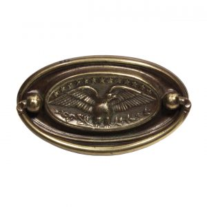 Stately Antique Figural Cabinetry Pulls with Eagles-0