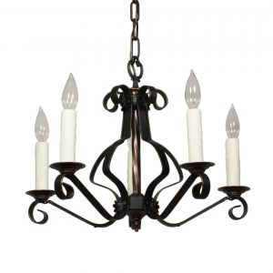 Wonderful Antique Iron Chandelier, c.1920s-0