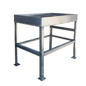 Reclaimed Industrial Work Table, Colonial Bread-0