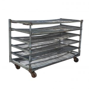 Salvaged Industrial Shelving Unit, Colonial Bread-0