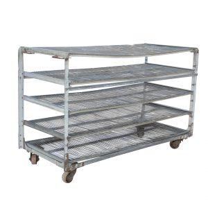 Reclaimed Industrial Shelving Unit, Colonial Bread-0