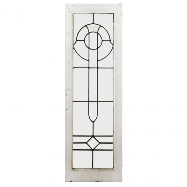 Antique Arts & Crafts American Beveled and Leaded Glass Windows-0
