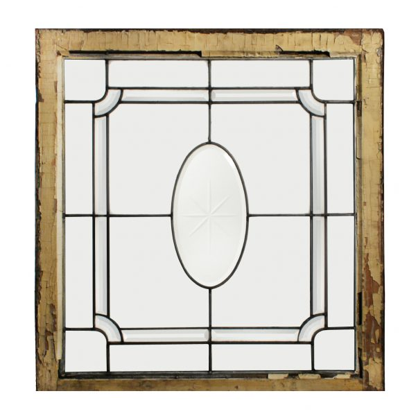 Gorgeous Antique Leaded and Beveled Glass Windows, Hand-Cut Star-0