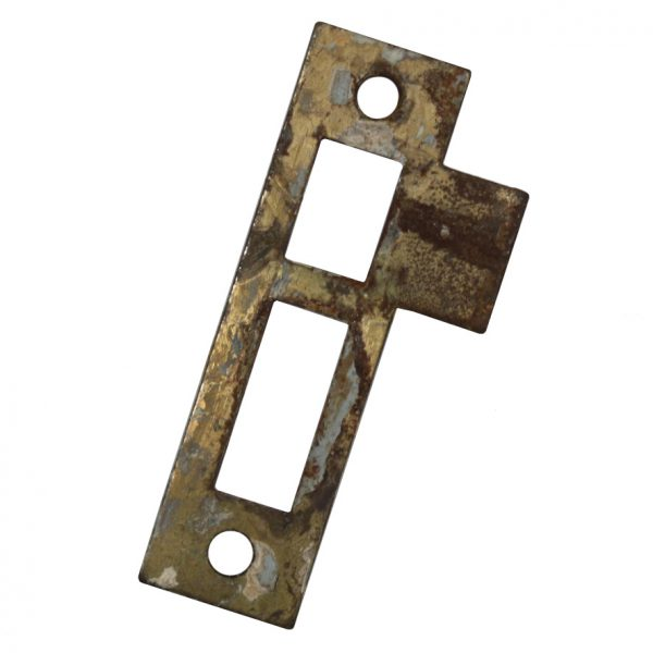 "Antique Strike Plates for Mortise Locks, 1/4"" Spacing-0"