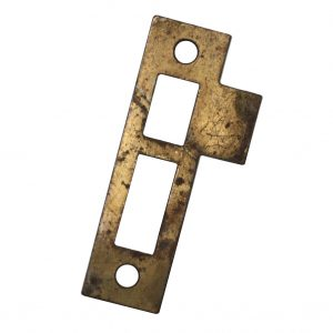"Antique Strike Plates for Mortise Locks, 7/32"" Spacing-0"