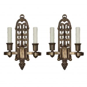 Beautiful Antique Spanish Revival Sconce Pair, c.1920-0