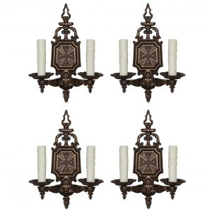 Striking Pairs of Antique Neoclassical Sconces, C.L.S.-0