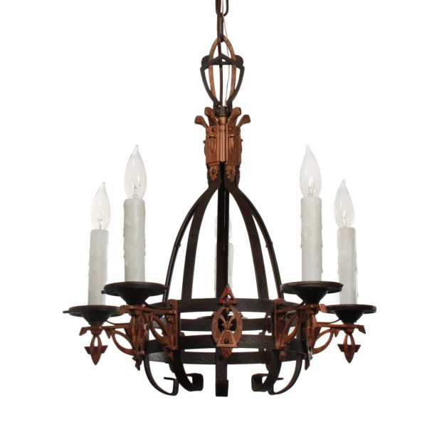 Antique Art Deco Chandelier, Early 1900s-0