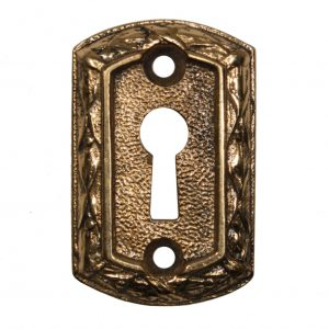 Antique Cast Brass Keyhole Escutcheons by Sargent