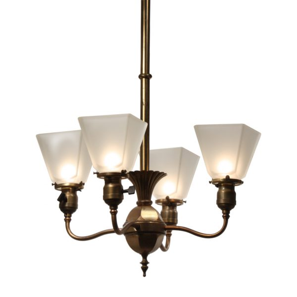 Antique Colonial Revival Chandelier by Beardslee