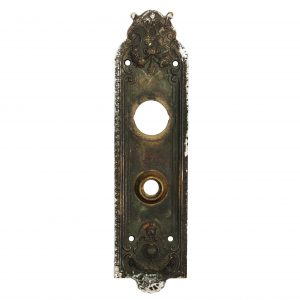 "Antique Entry Backplate, ""Marsala"" by Reading Hardware, c. 1910-0"