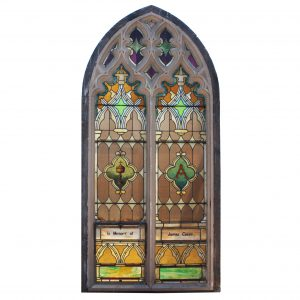 Antique Gothic Arch Window, Late 19th Century-0