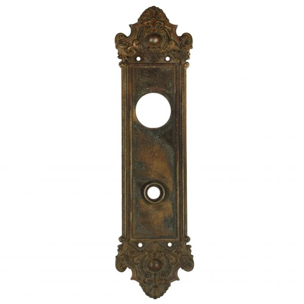 Antique Neoclassical Cast Iron Entry Backplate, c. 1910-0