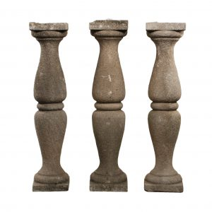 Antique Carved Sandstone Balusters, Early 1900s-0