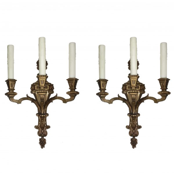 Pair of Antique Figural Sconces, Attributed to E. F. Caldwell-0