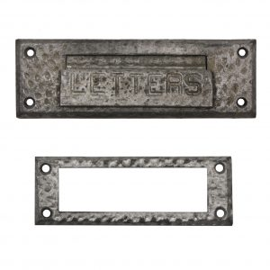 Antique Letter Slot with Matching Interior Trim Piece, c. 1920s-0