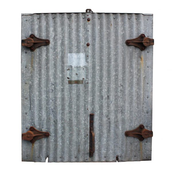 Reclaimed Antique Industrial Corrugated Fire Door for Wall Opening