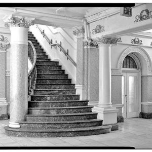 Reclaimed Set of Bronze and Onyx Stair Parts Divine Lorraine Hotel