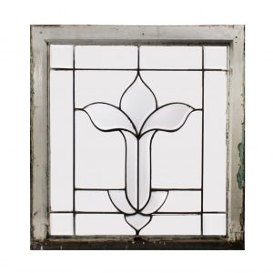 Antique American Leaded and Beveled Glass Window front