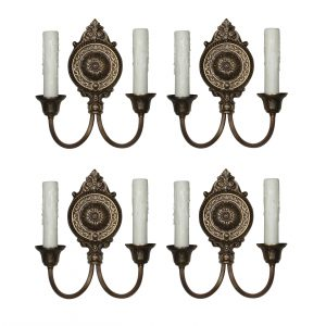 Pairs of Antique Neoclassical Double Arm Sconces matching