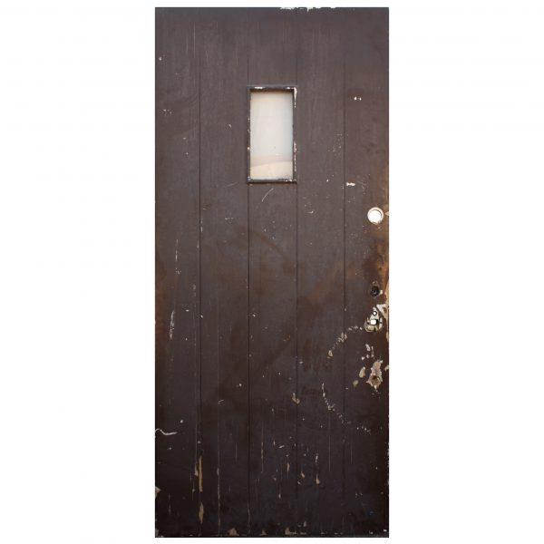 "Reclaimed 36"" Antique Plank Door, Early 1900s-0"